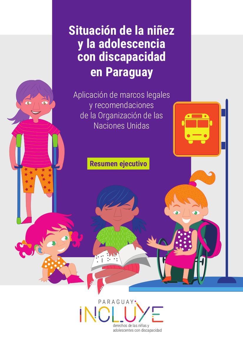 Resumen Situación de la NIñez y Adolescencia en Paraguay TAPA